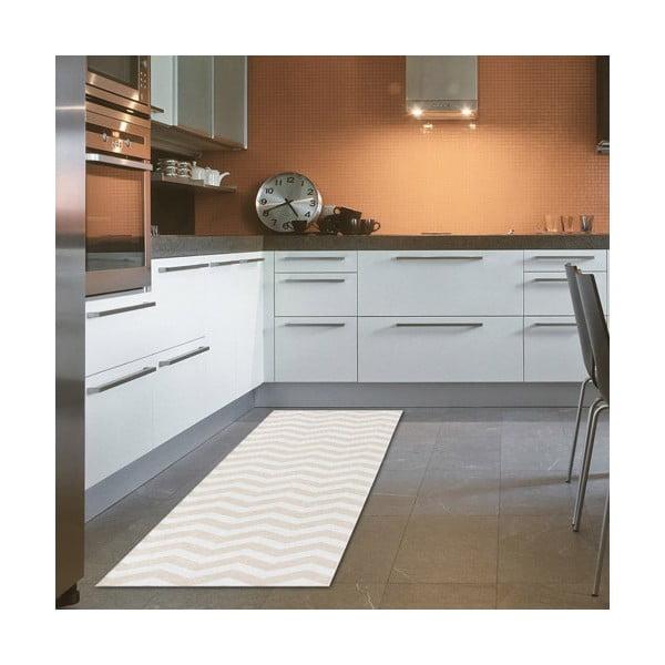 Wysoce wytrzymały chodnik kuchenny Webtapetti Optical Beige, 60x220 cm