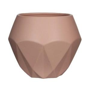 Różowa doniczka ceramiczna Mica Gem, 17x20,5cm