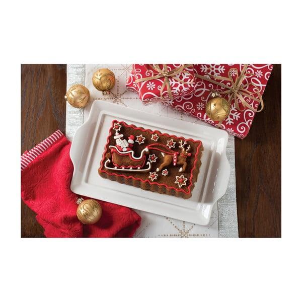 Podłużna forma do ciasta w srebrnym kolorze Nordic Ware Santa, 1,4l
