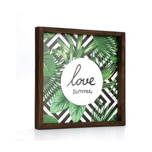 Obraz w ramie Dekorjinal Pouff Love Summer, 33x33cm