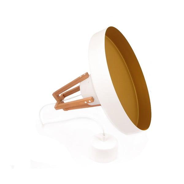 Biała lampa wisząca Loft You Work, 44 cm