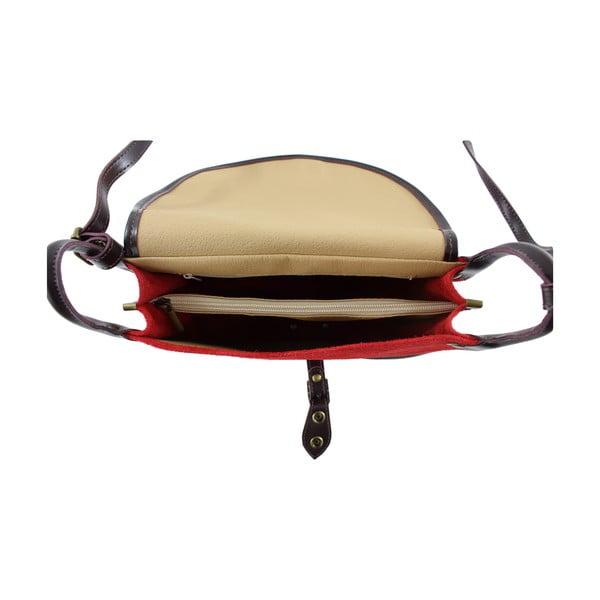Skórzana torebka przez ramię Gina, czerwona