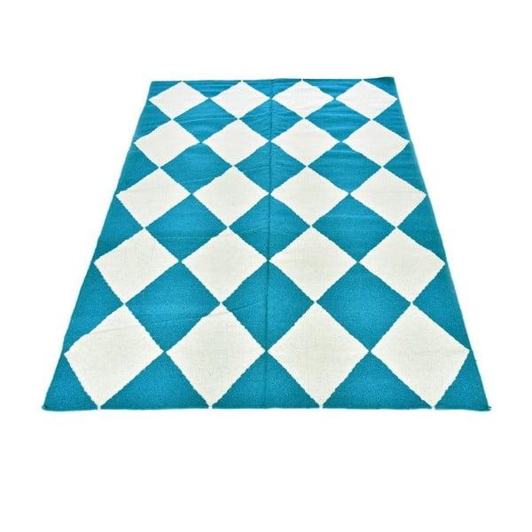Dywan wełniany Geometry Classic Turquoise, 160x230 cm