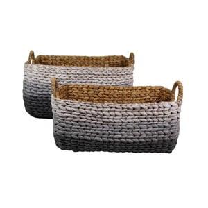 Zestaw 2 koszy z hiacyntu wodnego HSM Collection Cilly