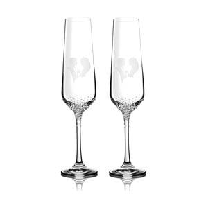 Zestaw 2 kieliszków do szampana Grace ze Swarovski Elements w eleganckim opakowaniu