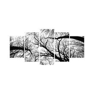 Wieloczęściowy obraz Black&White no. 95, 100x50 cm