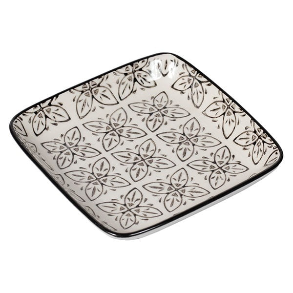 Zestaw 4 porcelanowych talerzy Old Floor Square, 12.5 cm