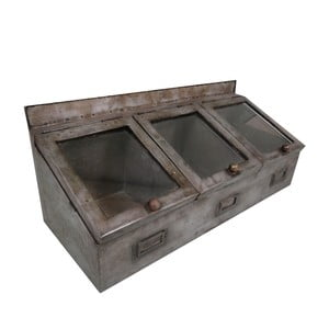Potrójny metalowy pojemnik Antic Line Zinc
