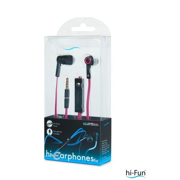 Słuchawki z mikrofonem hi-Earphones, czarne