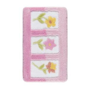 Różowy dywanik łazienkowy Confetti Anjelik, 60x100 cm