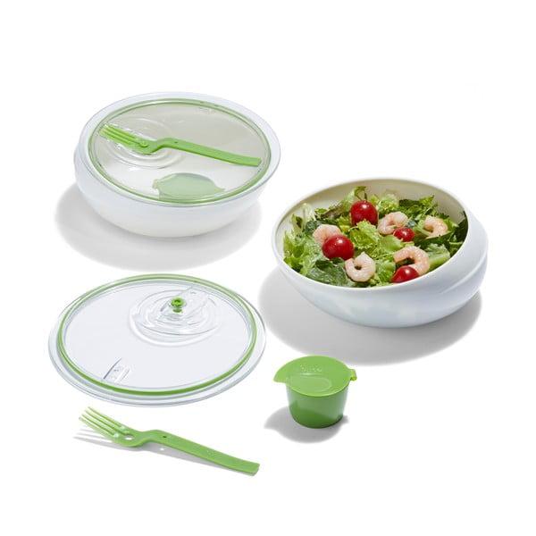 Pojemnik Lunch Bowl, biały/zielony