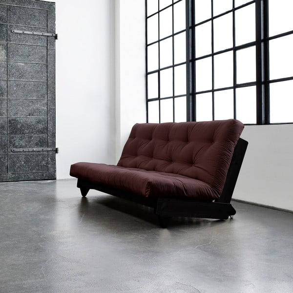 Sofa rozkładana Karup Fresh Wenge/Brown
