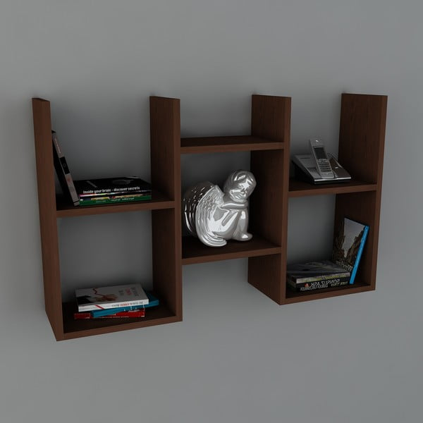 Półka Gues Book Wenge, 22x97x59,5 cm