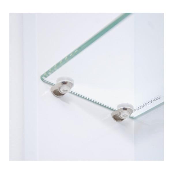 Biała szafka bambusowa z lustrem Wireworks Domain, 110 cm