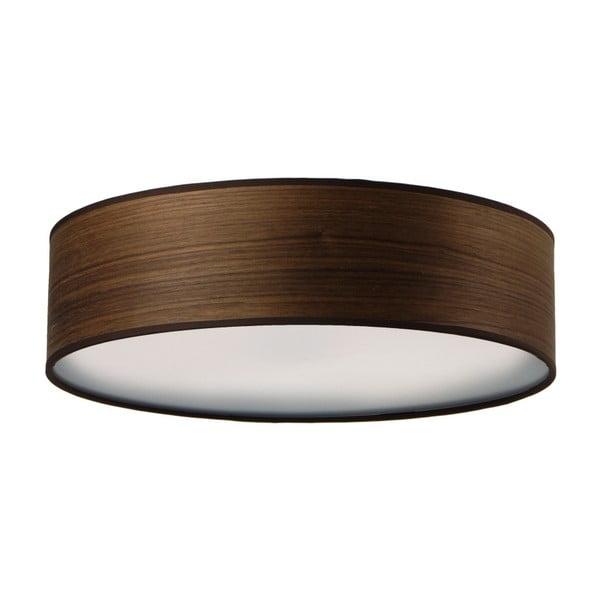 Ciemnobrązowa lampa sufitowa z naturalnego forniru Bulb Attack Ocho,⌀40cm