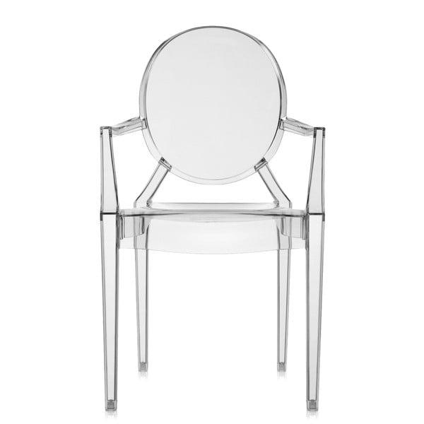 Krzesło Kartell Louis Ghost, szare