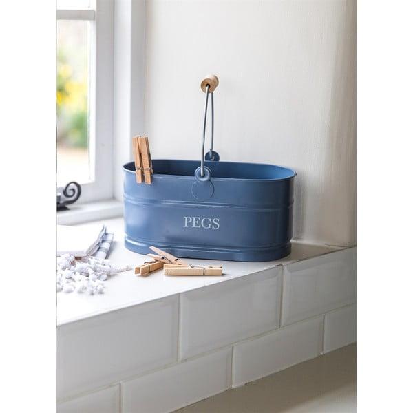Koszyk na klamerki Peg Bucket, niebieski