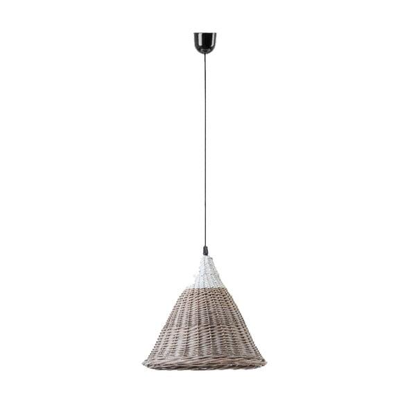 Lampa wisząca Kapi, 31x40 cm, brązowa