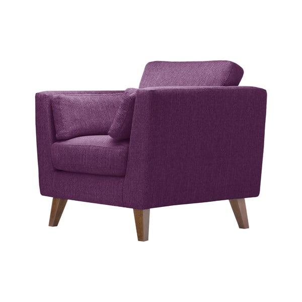 Śliwkowy fotel Jalouse Maison Elisa