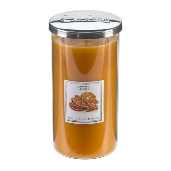 Świeczka zapachowa o zapachu pomarańczy i bursztynu Copenhagen Candles Sweet Tall, czas palenia 70 godz.
