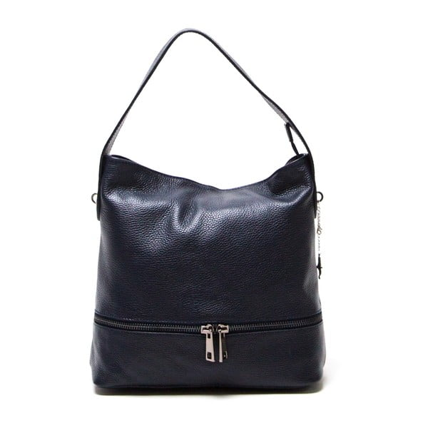 Skórzana torebka Luisa Vannini 1129 Blu