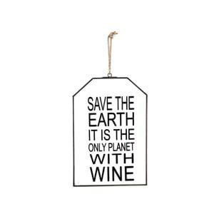 Szklana tabliczka z napisem Save the Earth, 22x33 cm