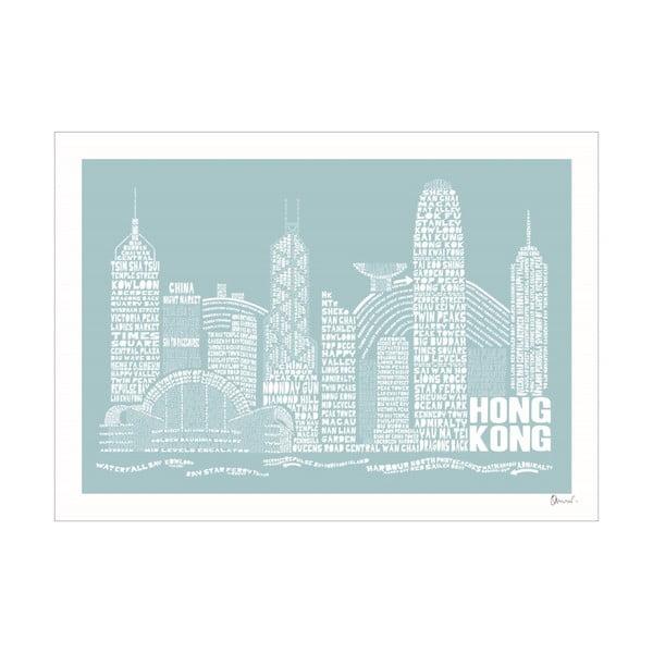 Plakat Hong Kong Blue&White, 50x70 cm