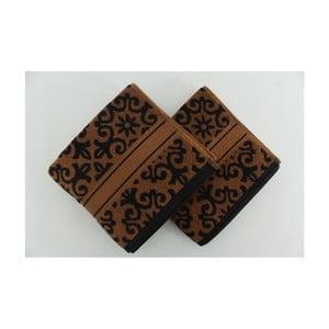 Zestaw 2 ręczników Shiraz Brown Black, 50x90 cm