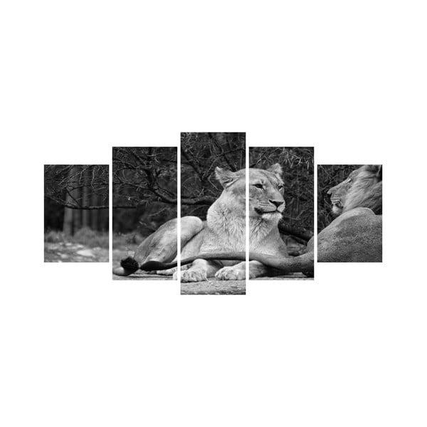 Wieloczęściowy obraz Black&White no. 72, 100x50 cm
