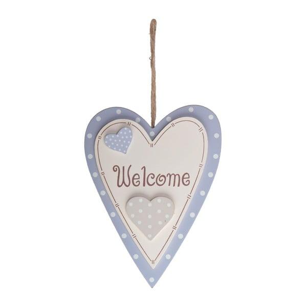 Drewniana dekoracja Welcome Heart