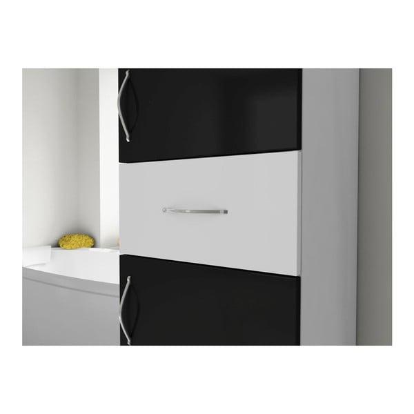 Szafka łazienkowa Nergis Black/White