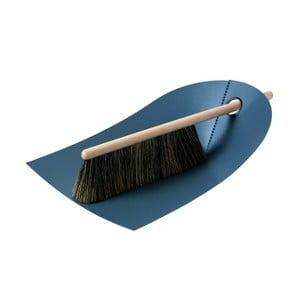 Zmiotka i szczotka z naturalnym włosiem Broom, ciemnoszara