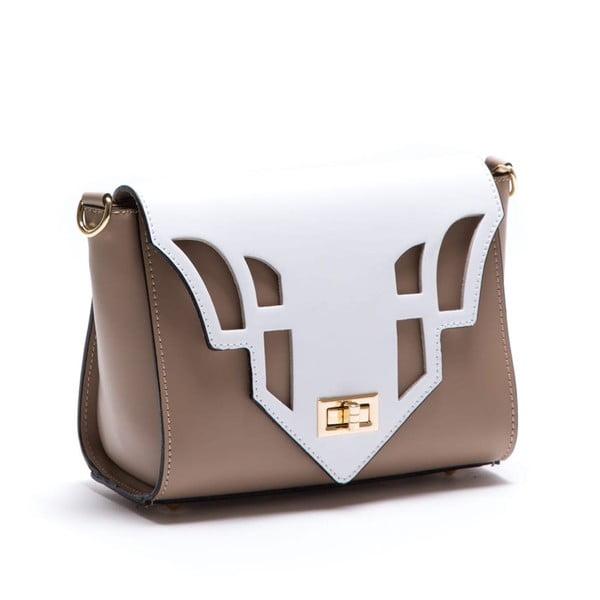 Beżowa skórzana torebka Luisa Vannini