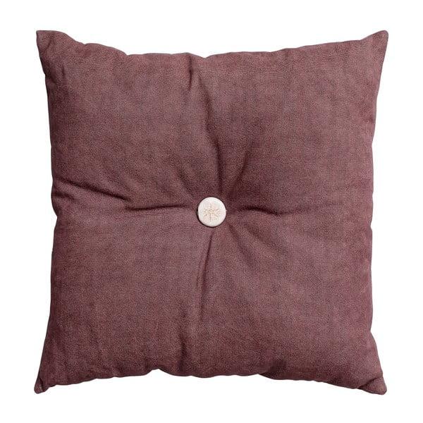 Poduszka z wypełnieniem Button 45x45 cm, różowa