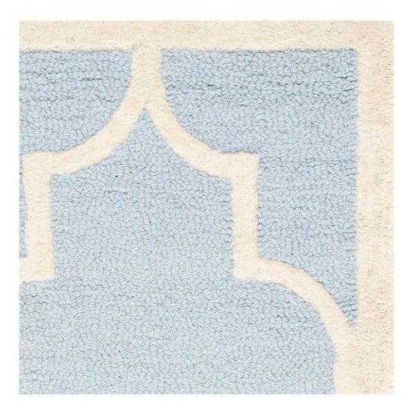 Dywan wełniany Safavieh Lola Sky, 91x152 cm