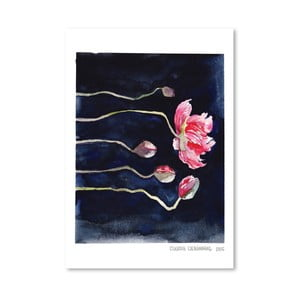 Plakat Blooms on Black III, 30x42 cm
