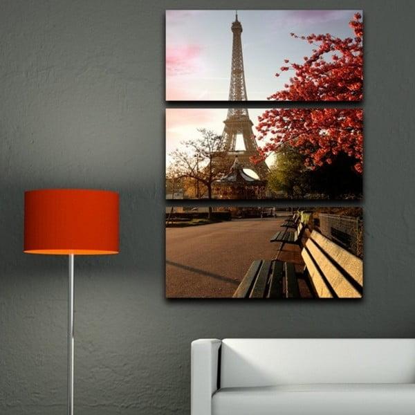 Obraz trzyczęściowy Wiosna w Paryżu