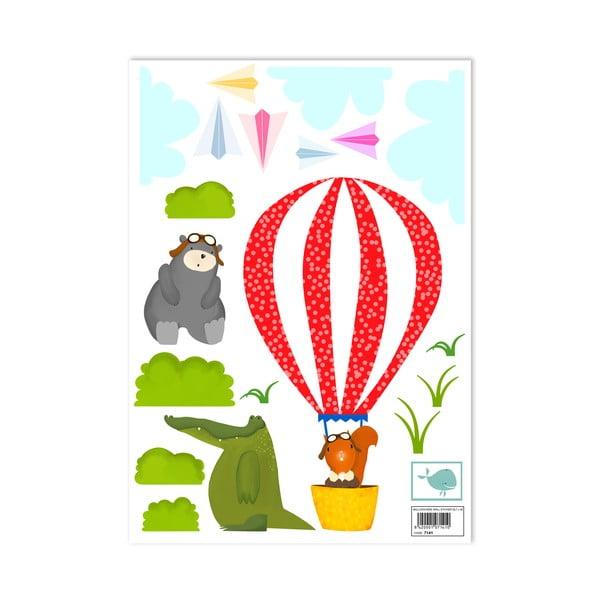 Naklejka naścienna Balloon Ride, 29,7x42 cm