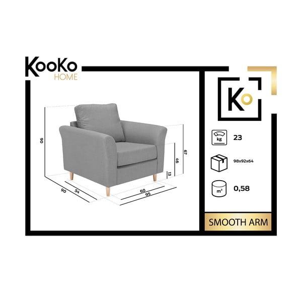 Bezowy fotel Kooko Home Smooth