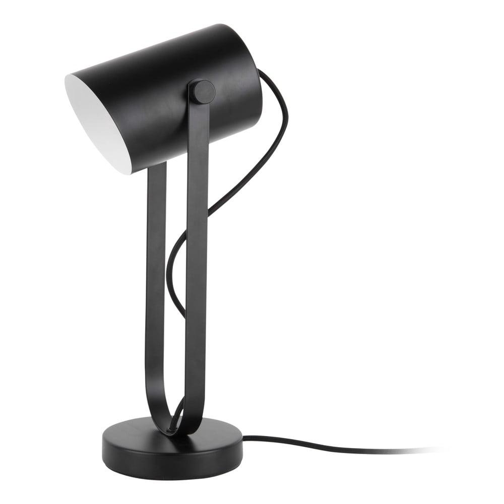 Czarna lampa stołowa Leitmotiv Snazzy