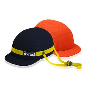 Kask rowerowy Krust black/yellow/orange z zapasową czapką, rozmiar M/L