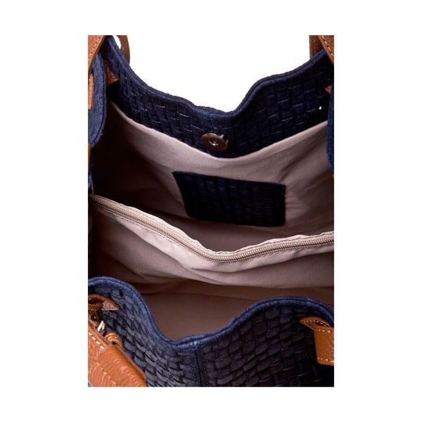 Skórzana torebka Italia 858 Blu