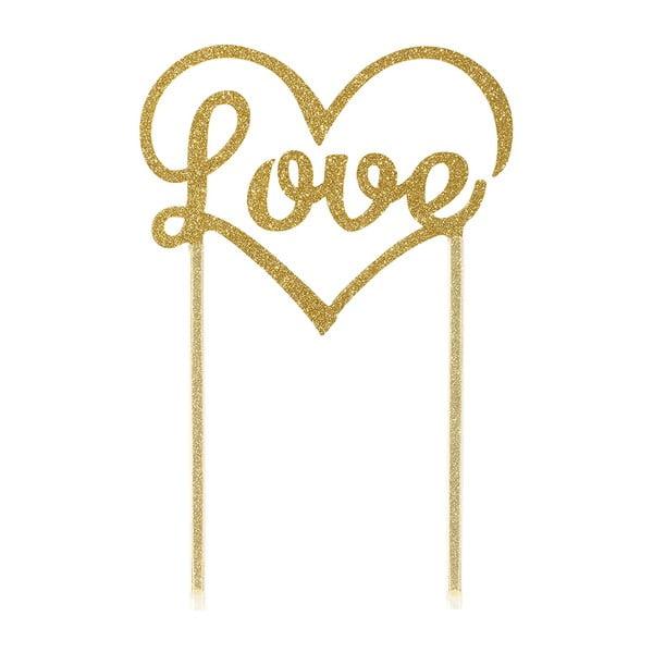 Dekoracja na tort Love Gold