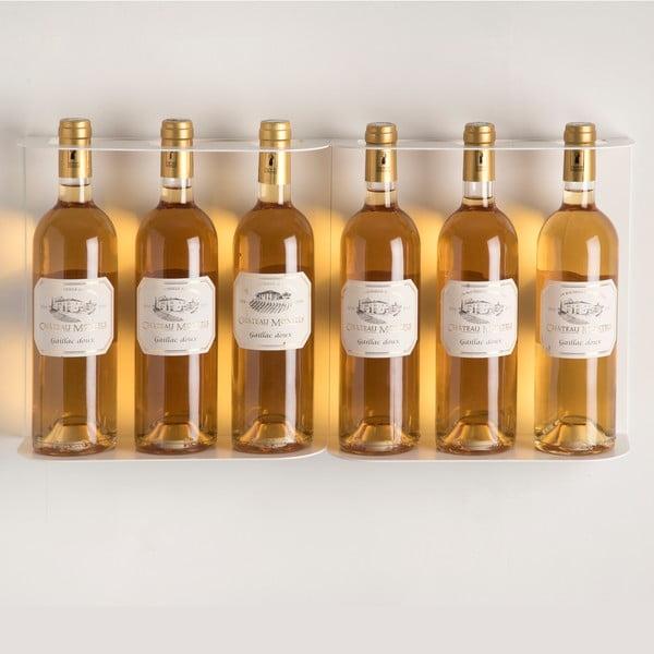 Półka ścienna na wino Teewine White