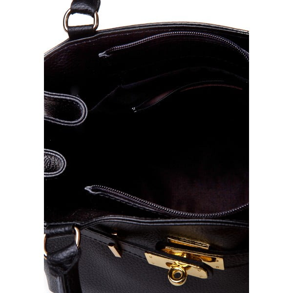 Czarna torebka skórzana Massimo Castelli Efrem
