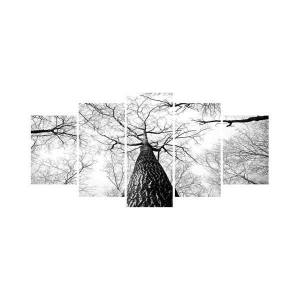 Wieloczęściowy obraz Black&White no. 25, 100x50 cm