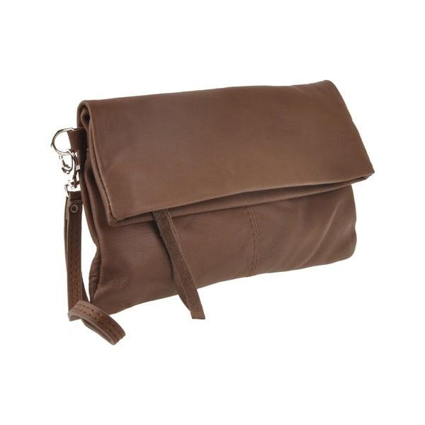Skórzana torebka Castor, czekoladowa