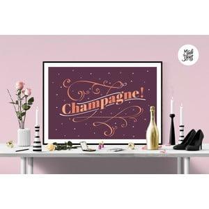 Plakat Champagne! Burgundy, A3