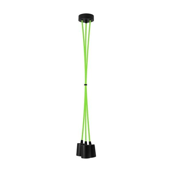 Trzy wiszące kable Cero, zielone/czarne