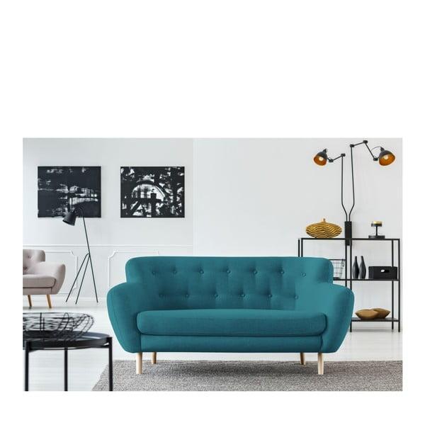 Turkusowa sofa 2-osobowa Cosmopolitan design London